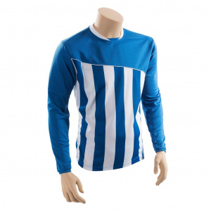 Precision voetbalshirt Precision polyester blauw/wit