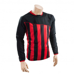 Precision voetbalshirt Precision polyester zwart/rood
