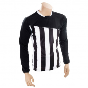 Precision voetbalshirt Precision polyester zwart/wit