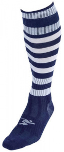 Precision voetbalsokken Hooped unisex nylon navy/wit maat 40-44
