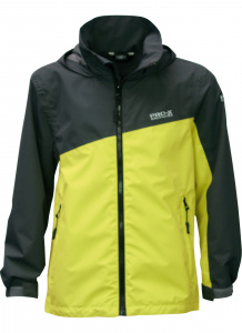Pro-X Elements outdoor jacket Tanis junior polyester black/lime