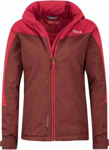 Pro-X Elements outdoor jacket Liane ladies polyester red/brown