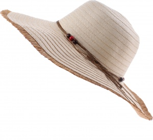 Pro Beach straw hat ladies beige 42 cm