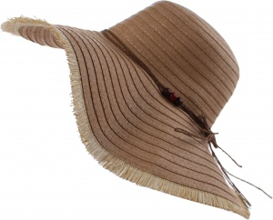 Pro Beach straw hat ladies brown 42 cm