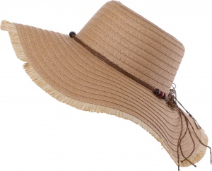 Pro Beach straw hat ladies light brown 42 cm
