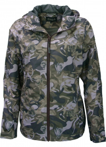 Pro-X Elements outdoorjas Camou dames polyester grijs/groen