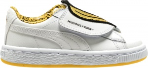 Puma Basket Wrap Minions sneakers junior wit