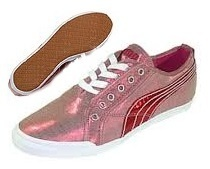 Puma Crete Sheen Dames Sneakers Roze