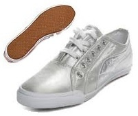 Puma Crete Sheen Dames Sneakers Zilver