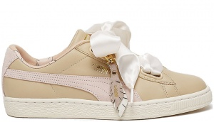 Puma sneakers Baskert Heart Coach FM dames crème
