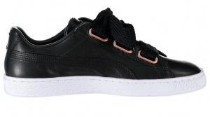 Puma sneakers Basket Heart LeatherDamen schwarz