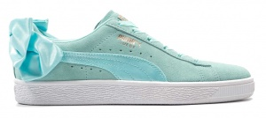 Puma sneakers Suede Bow dames aquamint