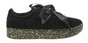 Puma sneakers Vikky Ribbon Dot dames zwart