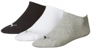 Puma socks Invisiblesneaker cotton white/black/grey 3 pair