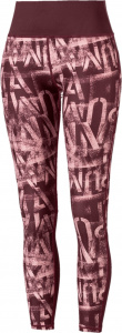 Puma sportlegging Studio Graphic 7/8 dames bordeaux/roze