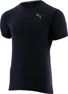 Puma sportshirt Ignite Heather heren polyester donkerblauw