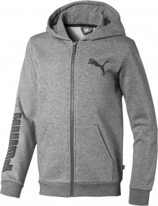 Puma jacket with hood boys cotton/polyester grey