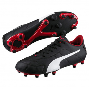 Puma soccer shoes Classico FGmen's leather black/white/red