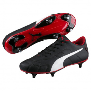 Puma soccer shoes Classicomen's leather black/white/red