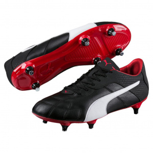 Puma soccer shoes Esitomen's leather black/white/red