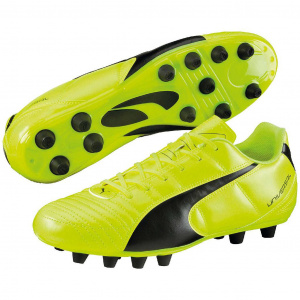 Puma soccer shoes Universal llmen's leather yellow/black