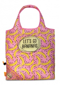 Punta foldable shopper Bananas 7 liter pink