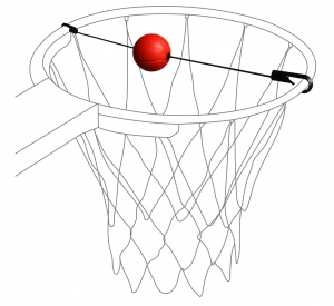 Pure2Improve Basketball Target Trainer black / red