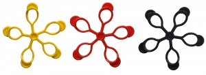 Pure2Improve Finger Expander set 7 cm yellow / red / black