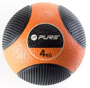Pure2Improve medicine Ball 4 kg oranje/zwart