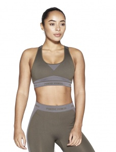 Pursue Fitness seamless sports bra ladies khaki