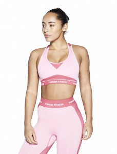 Pursue Fitness seamless sports bra ladies pink