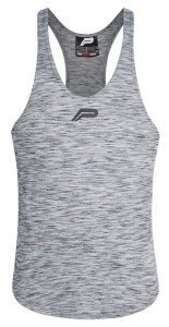 Pursue Fitness sporttop Slub Stringer 2.0 heren grijs