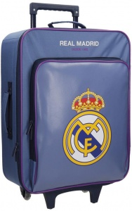 Real Madrid trolley 28 liter blauw