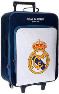 Real Madrid trolley 28 liter donkerblauw/wit