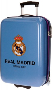 Real Madrid trolley 33 liter blauw