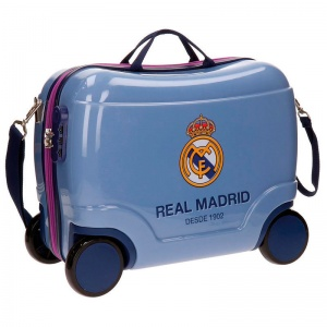 Real Madrid trolley 38 liter blauw