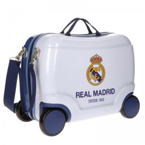Real Madrid trolley 38 liter wit