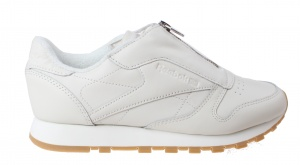 Reebok Sneakers Classic Leather Zip Chalk Damen Creme