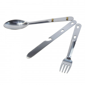 Regatta cutlery set camping 1-person steel silver 3-piece