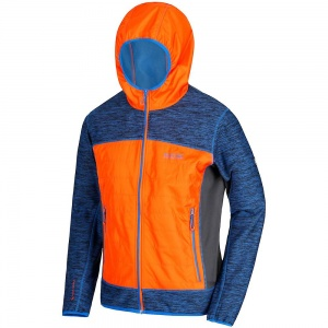 Regatta Harra II hybrid outdoorjas heren blauw/oranje