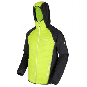 Regatta outdoor jacket Andreson men's polyester black/green