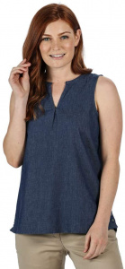 Regatta top Jadine sleeveless ladies cotton dark blue