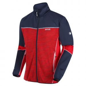 Regatta cardigan Yare III men's polyester blue/red