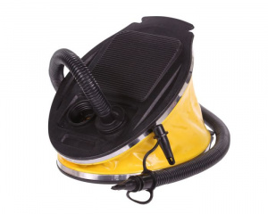 Regatta foot pump 3 litres polypropylene black/yellow 5-piece