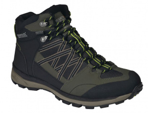 Regatta hiking boots Samaris Mid II mens black/green