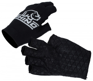 Rhino sports Halfgloves junior polyester black