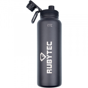 Rubytec drinkfles Shira Cool 1,1 liter ABS/RVS zwart