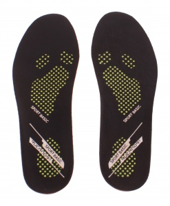Rucanor Insoles Basic Sports unisex black / orange 36/37 mt