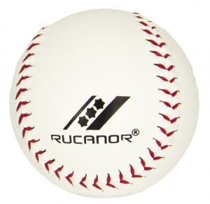 Rucanor softbal 9 cm wit