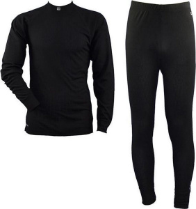 Rucanor thermosuit Montana II men's polyester black 2-piece